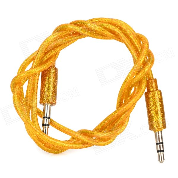 3.5mm Male to Male Audio Connection Cable - Golden + Silver (100cm)