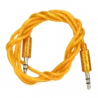 3,5 mm uros-uros Audio Connection Cable - Golden + hopea ( 100cm )