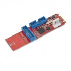 M.2 NGFF to 2 x 19-Pin Adapter Card - Red + Blue