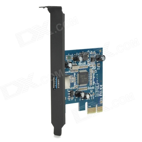 PCI-Express to USB 3.0 Expansion Adapter Card - Blue + Black
