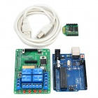 Smart Board + 4-CH Relay Expansion Board + Bee Module Kit Set for Arduino UNO - Green + Yellow