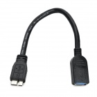 USB 3.0 hembra a micro USB 3.0 B cable de audio / video macho - negro + plata (22 cm)