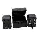 Universal Travel US + UK + EU + AU + Middle East Plug Power Adapter Set - Black