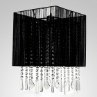 WG-9823 E27 Crystal Chandelier Pendant Ceiling Lamp Base Holder - Black + Silver