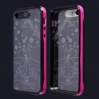 Little Girl Pattern LED Flash Light Protective ABS Hülle für das iPhone 5 / 5S - Deep Pink + Schwarz