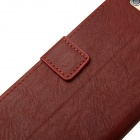 "Retro PU Leather Flip Cover Case w/ Card Slot and Stand for IPHONE 6 PLUS 5.5"" - Brown"