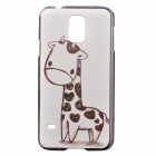 Little Giraffe Pattern Ultra Thin Shockproof Back Case for Samsung Galaxy S5 N9600 - Black