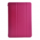 Motif de quadrillage de protection de Smart Case en cuir avec support pour iPad MINI 1/2 - Deep Rose