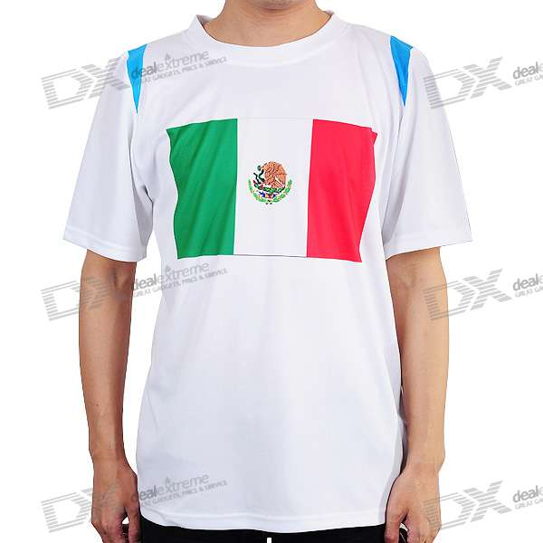 National Football/Soccer Team T-Shirt - Mexico (L-Size)