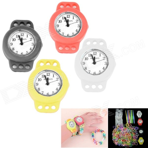 Bracelet en silicone Band Knitting bricolage Quartz analogique Montres Kit de Kid - Multicolore (1 x 377/4 PCS)