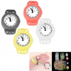 Kid's Knitting Silicone Band DIY Quartz Analog Bracelet Watches Kit - Multicolor (1 x 377 / 4 PCS)