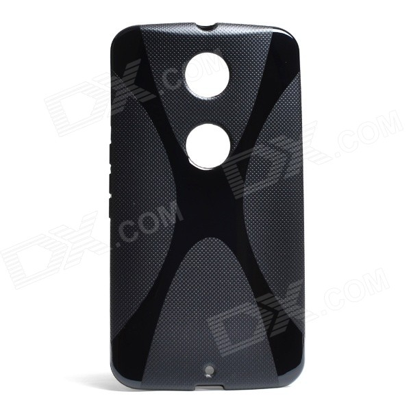 X Style Non-Slip Protective TPU Back Case for Moto Nexus 6 - Black iface mall for iphone 6 plus 6s plus glossy pc non slip tpu shell case black
