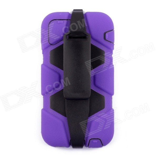 Silicone + Plastic Shockproof Fallproof Dustproof Back Case for IPHONE 6 - Purple pannovo silicone shockproof fallproof dustproof case for samsung galaxy note 3 camouflage green