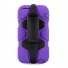 Silicone + Plastic Shockproof Fallproof Dustproof Back Case for IPHONE 6 - Purple