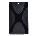 "X"" Style Non-Slip Protective TPU Back Case for Xperia Z3 - Black"