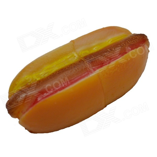 Hot Dog Bread Style USB 2.0 Flash Drive - Yellow + Red (8GB)