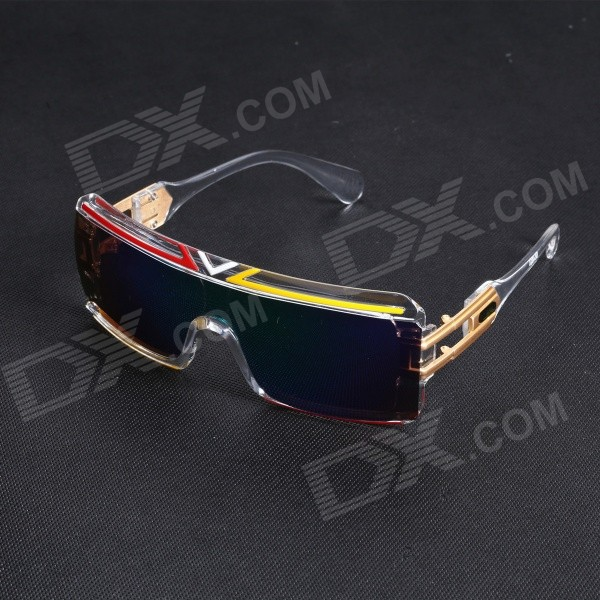 Personalized Windproof UV400 Protection Conjoined PC Frame Blue REVO Lens Sports Sunglasses