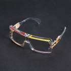 Personalized Windproof UV400 Protection Conjoined PC Frame Transparent Lens Sports Sunglasses