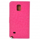 Protective PU Case w/ Stand for Samsung Galaxy Note 4 - Deep Pink