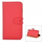 Detachable Protective Flip-Open PU Leather Case w/ Stand + Card / Money Slot for IPHONE 6 PLUS - Red