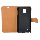 Protective Leather Case w/ Stand for Samsung Galaxy Note 4 - Black