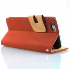 "Flip-open PU Leather Wallet Stand Design Case w/ Card Slot for 4.7"" IPHONE 6 - Red"