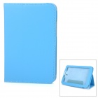 """lXA2207 Lychee Pattern Protective PU Case w/ Stand for 7"""" Lenovo A2207 - Blue"""