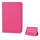 """lXA2207 Lychee Pattern Protective PU Case w/ Stand for 7"""" Lenovo A2207 - Deep Pink"""