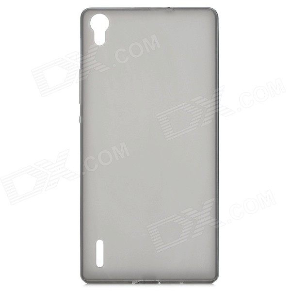 Protective Ultra-Slim TPU Back Case for Huawei P7 - Translucent Black
