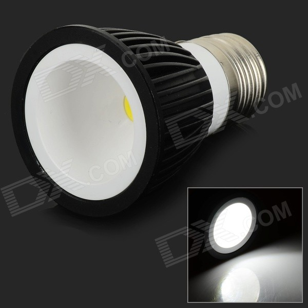 Фото E27 8W 550lm 6000K COB LED White Down Light Spotlight - White + Black (AC 85~265V) hntd 8w ac 220v led work light explosion proof waterproof ip67 led panel cnc machine tools lighting td41 free shipping