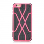 Stylish Web Style Protective TPU Back Case for IPHONE 6 PLUS - Black + Pink