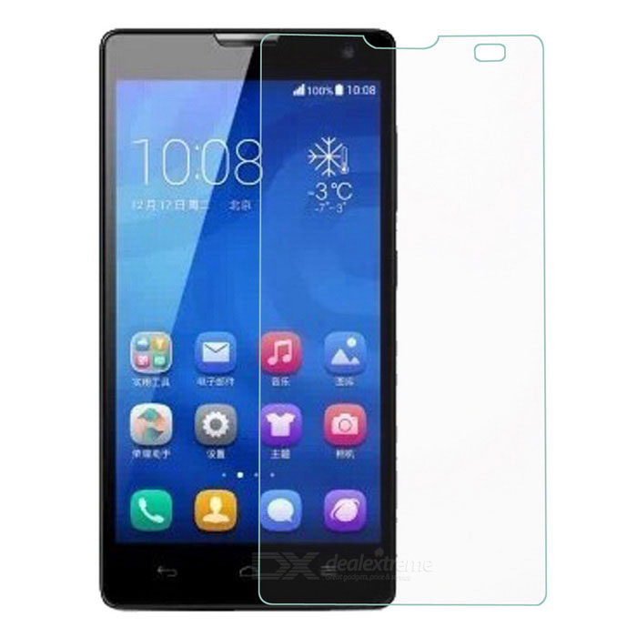 Protective Clear Tempered Glass Screen Guard Film Set for Huawei Honor 3C