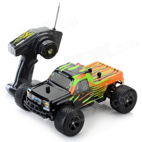 8803A 1:16 Scale 3-CH 27MHz High Speed R/C Offroad Car - Black + Multi-Color nansheng 8807g 1 12 scale 3 ch 2 4ghz high speed r c cross country car silver black