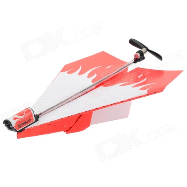 DIY Electric Paper Airplane Module Toy - Black + Orange