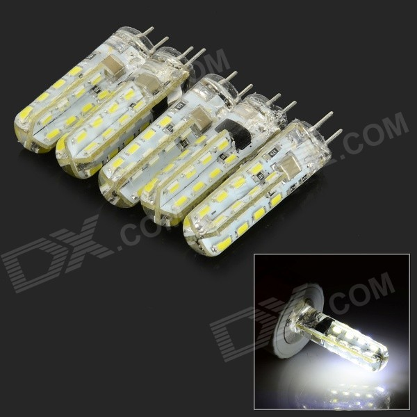 G4 3W 180lm 10000K 32-SMD 3014 LED Cool White Dimmable Lamps - White + Beige (5 PCS / AC 220V) k03 050 024 53039880050 53039700024 53039700050 turbo for citroen c5 xantia for peugeot 406 607 hdi dw10ated fap 2 0l hdi 110hp