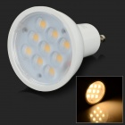 GU10 3W 180lm 3000K 9-SMD 5730 LED Warm White Light Lamp - White (AC 85~265V)