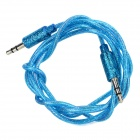 3.5mm Male to Male Audio Connection Cable - Blue + Silver (100cm)