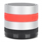 Portable 3W Bluetooth V3.0 Speaker w/ Microphone / FM / TF / Mini USB - Silver + Black