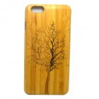 Big Tree Pattern Detachable Protective Bamboo Back Case for IPHONE 6 PLUS - Yellow