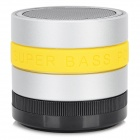 Portable 3W Bluetooth V3.0 Speaker w/ Microphone / FM / TF / Mini USB - Black + Yellow