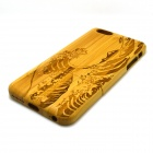 Wind Wave Pattern Detachable Protective Bamboo Back Case for IPHONE 6 PLUS