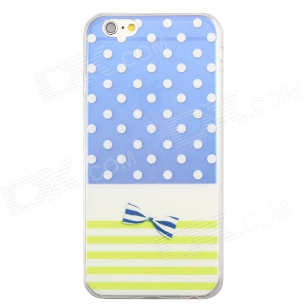 Dots and Bow-knot Pattern 0.3mm Ultra Thin TPU Back Case for IPHONE 6 4.7""