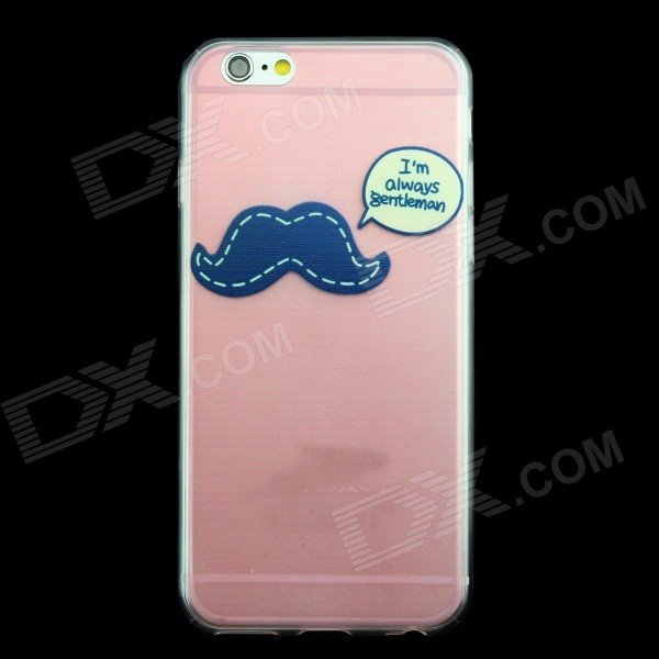 Mustache Pattern 0.3mm Ultra-Slim TPU Back Case for IPHONE 6 4.7 creative mustache style infant pacifier