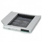 Aluminum Housing Optical Drive 2nd HDD Holder for Apple MacBook Pro - Silver + Black