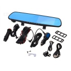 "F205 4.3"" Screen HD 120' Wide-Angle Car Rearview Mirror DVR w/ 2 Cameras / 2 LEDs / Night Vission"