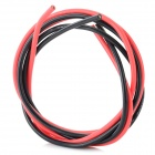 Universal 12AWG Soft Silicone Wire for R/C Toy - Black + Red (2 PCS)