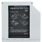 Ultra-Slim 9.5mm IDE a SATA Laptop Optical Drive segundo HDD Holder - Plata + Negro