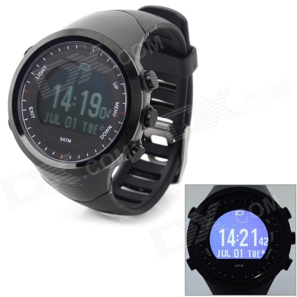 GD-004 Outdoor Sport Multi-Function Rubber Band Digital Heart Rate Monitor Watch w/ GPS / Pedometer 1pc 0 130km h gps speedometers 85mm speed milometers 0 80mph odometers 9 32v for auto with gps antenna and backlight