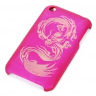 Laser Etching Dragon Protective PC Case for Iphone 3g/3GS (Charming Pink)