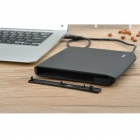 USB External Mobile 12.7mm SATA Optical Drive Case w/ DC Power Supply for Laptop - Black